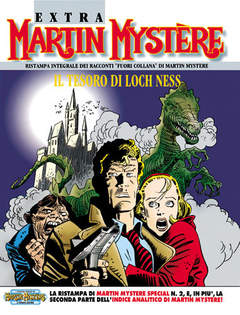 Copertina MARTIN MYSTERE EXTRA n.2 - Il tesoro di Loch Ness, BONELLI EDITORE