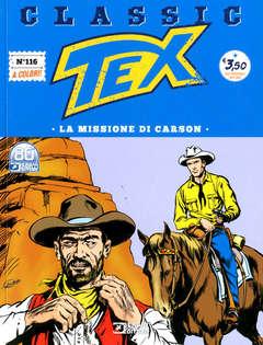 Copertina TEX CLASSIC n.116 - LA MISSIONE DI CARSON, BONELLI EDITORE