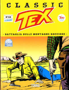 Copertina TEX CLASSIC n.118 - BATTAGLIA SULLE MONTAGNE ROCCIOSE, BONELLI EDITORE