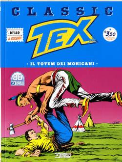 Copertina TEX CLASSIC n.119 - IL TOTEM DEI MOHICANI, BONELLI EDITORE