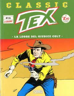 Copertina TEX CLASSIC n.21 - LA LEGGE DEL GIUDICE COLT, BONELLI EDITORE