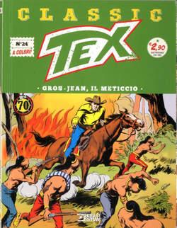 Copertina TEX CLASSIC n.24 - GROS-JEAN, IL METICCIO, BONELLI EDITORE