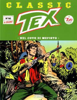 Copertina TEX CLASSIC n.90 - NEL COVO DI MEFISTO, BONELLI EDITORE
