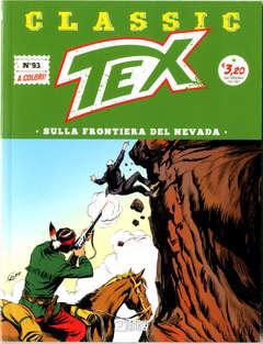 Copertina TEX CLASSIC n.93 - SULLA FRONTIERA DEL NEVADA, BONELLI EDITORE