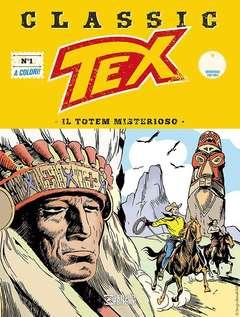 Copertina TEX CLASSIC n.1 - IL TOTEM MISTERIOSO, BONELLI EDITORE