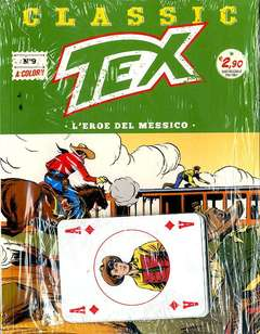 Copertina TEX CLASSIC n.9 - L'EROE DEL MESSICO (+ carte quadri), BONELLI EDITORE