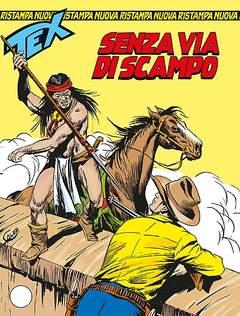 Copertina TEX NUOVA RISTAMPA n.340 - SENZA VIA DI SCAMPO, BONELLI EDITORE