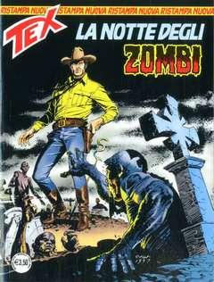 Copertina TEX NUOVA RISTAMPA n.445 - La notte degli zombi, BONELLI EDITORE
