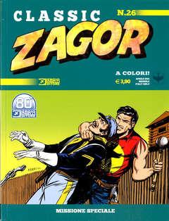 Copertina ZAGOR CLASSIC n.26 - MISSIONE SPECIALE, BONELLI EDITORE