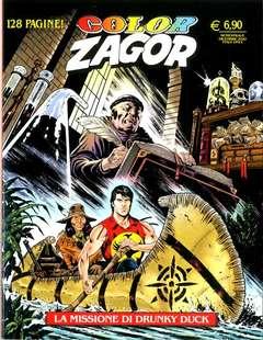 Copertina ZAGOR COLOR n.12 - LA MISSIONE DI DRUNKY DUCK, BONELLI EDITORE