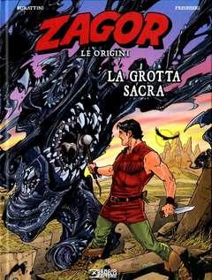 Copertina ZAGOR LE ORIGINI LA GROTTA... n. - LA GROTTA SACRA, BONELLI EDITORE