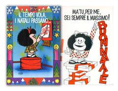 Copertina BIGLIETTI MAFALDA n.11 - IL TEMPO VOLA, I NATALI PASSANO..., CARTOLINE BIGLIETTI POSTER