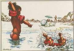 Copertina CARTOLINE SERRE n.5 - Bambini in spiaggia, CARTOLINE BIGLIETTI POSTER