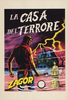 Copertina CARTOLINE ZAGOR n.7 - LA CASA DEL TERRORE, CARTOLINE BIGLIETTI POSTER