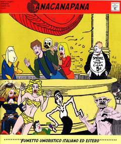 Copertina ANACANAPANA n.1 - FUMETTO UMORISTICO ITALIANO ED ESTERO, CARTOON CLUB