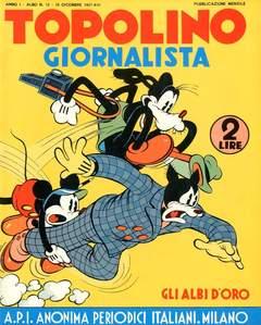 Copertina ALBI D'ORO n.12 - Topolino giornalista, COMIC ART