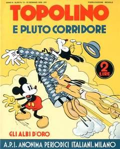 Copertina ALBI D'ORO n.13 - Topolino e Pluto corridore, COMIC ART