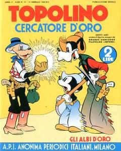 Copertina ALBI D'ORO n.14 - TOPOLINO CERCATORE D'ORO, COMIC ART