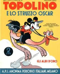 Copertina ALBI D'ORO n.16 - Topolino e lo struzzo Oscar, COMIC ART