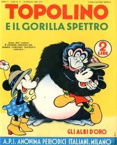 Copertina ALBI D'ORO n.17 - Topolino e il gorilla Spettro, COMIC ART