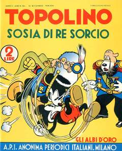 Copertina ALBI D'ORO n.24 - Topolino sosia di re Sorcio, COMIC ART