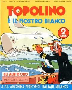 Copertina ALBI D'ORO n.27 - Topolino e il mostro bianco, COMIC ART