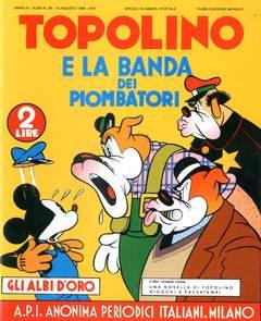 Copertina ALBI D'ORO n.29 - Topolino e la banda dei piombatori, COMIC ART