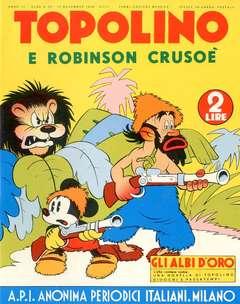 Copertina ALBI D'ORO n.32 - Topolino e Robinson Crusoé, COMIC ART