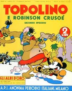 Copertina ALBI D'ORO n.34 - Topolino e Robinson Crusoé, COMIC ART