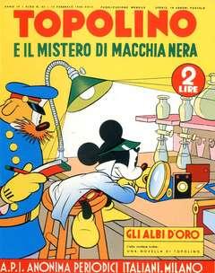 Copertina ALBI D'ORO n.35 - Topolino e il mistero di Macchia Nera, COMIC ART