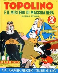 Copertina ALBI D'ORO n.36 - Topolino e il mistero di Macchia Nera, COMIC ART