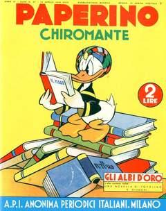 Copertina ALBI D'ORO n.37 - Paperino chiromante, COMIC ART