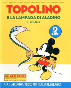 Copertina ALBI D'ORO n.40 - Topolino e la lampada di Aladino, COMIC ART