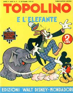 Copertina ALBI D'ORO n.9 - Topolino e l'elefante, COMIC ART