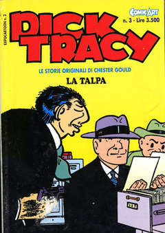 Copertina DICK TRACY storie originale n.3 - DICK TRACY                   3, COMIC ART