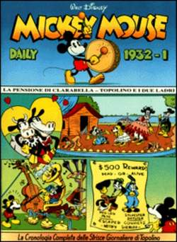 Copertina MICKEY MOUSE dally strips n.5 - Mickey Mouse dally strips 1932/1 , COMIC ART
