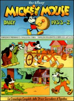 Copertina MICKEY MOUSE dally strips n.8 - Mickey Mouse dally strips 1933/2 , COMIC ART