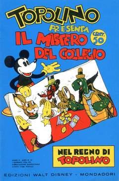 Copertina NEL REGNO DI TOPOLINO n.10 - Topolino presenta il mistero del collegio, COMIC ART