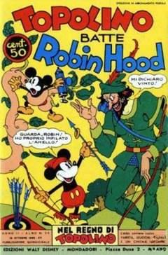 Copertina NEL REGNO DI TOPOLINO n.26 - Topolino batte Robin Hood, COMIC ART