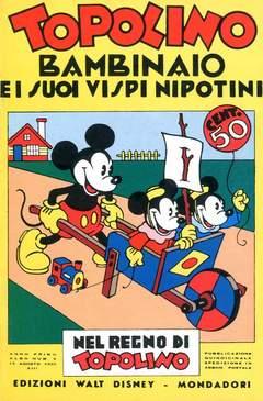 Copertina NEL REGNO DI TOPOLINO n.6 - Topolino bambinaio e i suoi vispi nipotini, COMIC ART