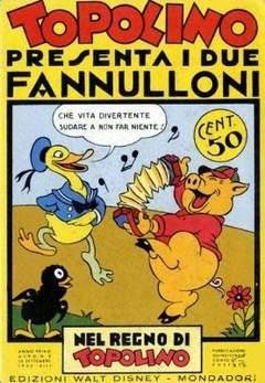 Copertina NEL REGNO DI TOPOLINO n.8 - Topolino presenta i due fannulloni, COMIC ART