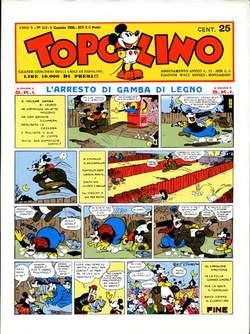 Copertina TOPOLINO GIORNALE n.1 - TOPOLINO 1936/1, COMIC ART