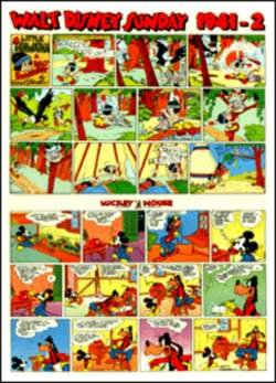 Copertina WALT DISNEY sunday pages n.20 - Silly Symphonies e Mickey Mouse 1941/2 , COMIC ART