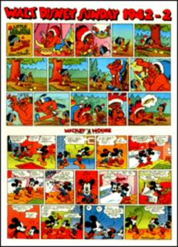 Copertina WALT DISNEY sunday pages n.22 - Silly Symphonies e Mickey Mouse 1942/2 , COMIC ART