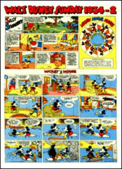 Copertina WALT DISNEY sunday pages n.2 - Silly Symphonies e Mickey Mouse 1934/2 , COMIC ART