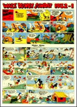 Copertina WALT DISNEY sunday pages n.3 - Silly Symphonies e Mickey Mouse 1932/1 , COMIC ART