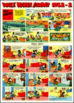 Copertina WALT DISNEY sunday pages n.4 - Silly Symphonies e Mickey Mouse 1932/2 , COMIC ART
