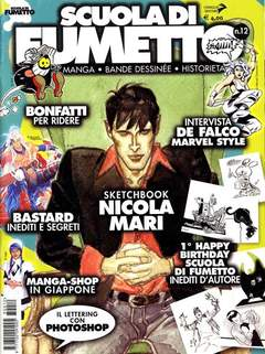 Copertina SCUOLA DI FUMETTO n.12 - SCUOLA DI FUMETTO           12, COMICOUT