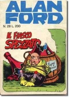 Copertina ALAN FORD n.28 - IL FIASCO SPEZZATO, CORNO EDITORIALE