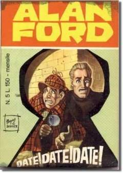 Copertina ALAN FORD n.5 - DATE! DATE! DATE!, CORNO EDITORIALE
